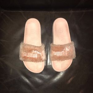 Light Pink Puma Fenty Slides